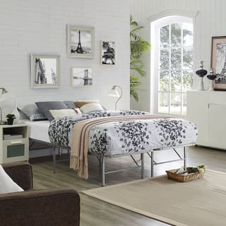 Grey Horizon Stainless Steel Bed Frame Free Shipping