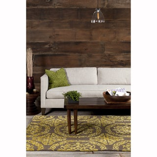 Mandara Hand-Tufted Contemporary Geometric Pattern Rug (9'x12')