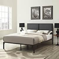 Della Grey Fabric Platform Bed