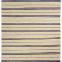 Mandara Flatweave Contemporary Stripe Pattern Reversible Wool Rug