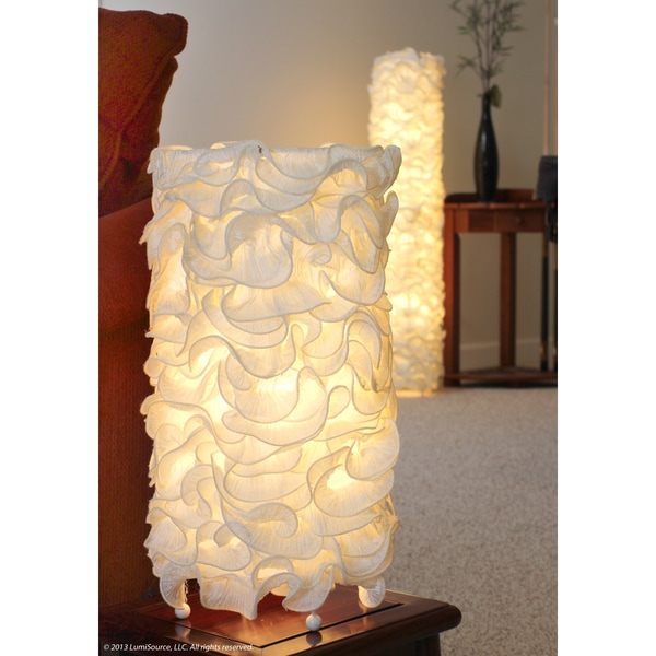 LumiSource Ivory Linen Table Lamp