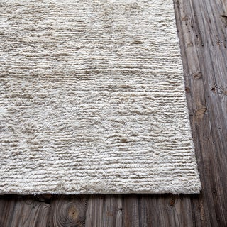"Mandara Hand-Woven Contemporary Stripe Pattern Shag Rug (3'6""x3'6"")"