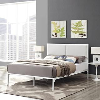 Della Vinyl Bed in White White
