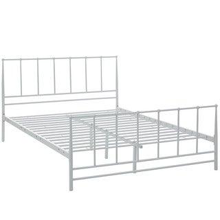 Estate Cottage White Platform Bed