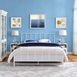 Estate Cottage White Platform Bed