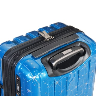 Olympia Red Polycarbonate 25-inch Expandable Hardside Spinner Upright Suitcase