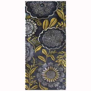 Mandara Hand-Tufted Transitional Floral Pattern New Zealand Wool Rug (2'x5')