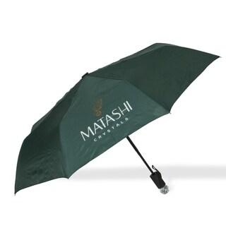 Matashi Auto-Fold Umbrella w/ Large Crystal Embedded Handle