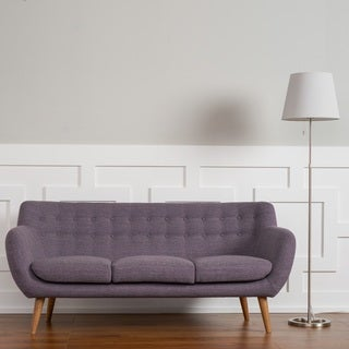 Rhodes Mid-Century Modern Tufted Sofa in Venga Purple by RST Brands