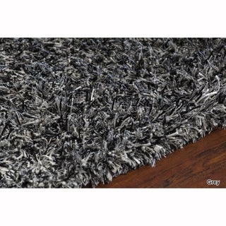 Mandara Hand-Woven Contemporary Solid Pattern Shag Rug (6'x9')