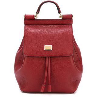 Dolce & Gabbana Socoly Cherry Leather Fashion Backpack