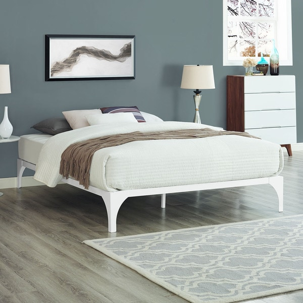 Shop Ollie Bed Frame in White - Free Shipping Today - Overstock.com ...