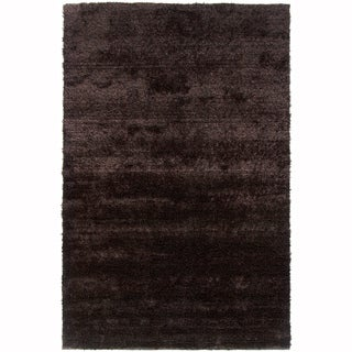 Mandara Hand-Woven Contemporary Solid Pattern Shag Rug (4'x6')