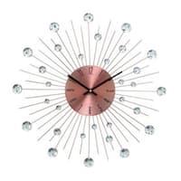 Carson Carrington Alavus Copper Acrylic and Metal 20-inch Wall Clock