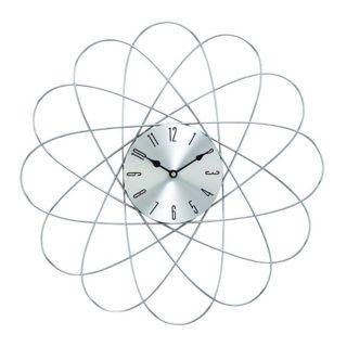 Benzara Silver Metal 20-inch Diameter Wall Clock