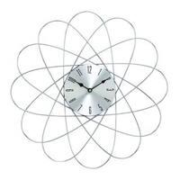 Carson Carrington Alavus Silver Metal 20-inch Diameter Wall Clock