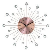 Carson Carrington Alavus Copper Sunburst 15-inch Wall Clock