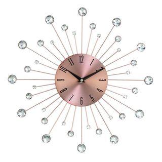 Copper Sunburst 15-inch Wall Clock