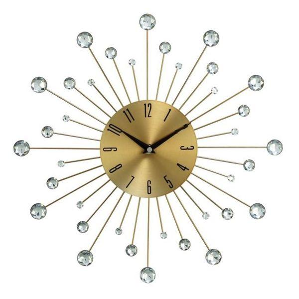 Benzara Metal Glass 15-inch Wall Clock