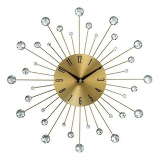 Carson Carrington Alavus Metal Glass 15-inch Wall Clock