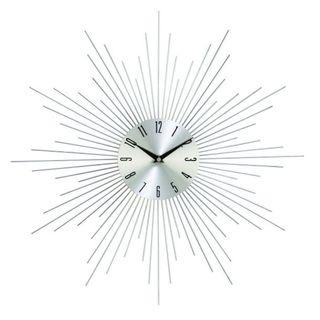 Silver Metal 20-inch Diameter Wall Clock