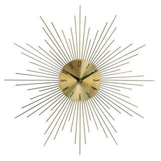 GoldtoneMetal and Glass 20-inch Wall Clock