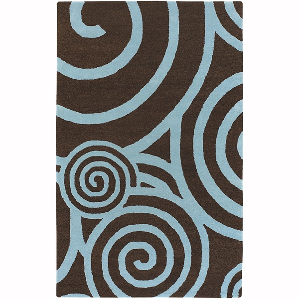 Mandara Hand-Tufted Contemporary Graphic Pattern New Zealand Wool Rug (4'x6')