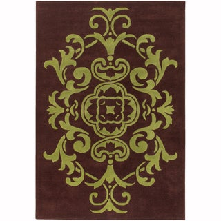 "Mandara Hand-Tufted Contemporary Ornamental Pattern New Zealand Wool Rug (3'8""x5'4"")"
