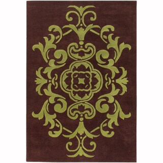 "Mandara Hand-Tufted Contemporary Ornamental Pattern New Zealand Wool Rug (3'8""x5'4"") - 3'8""x5'4"""