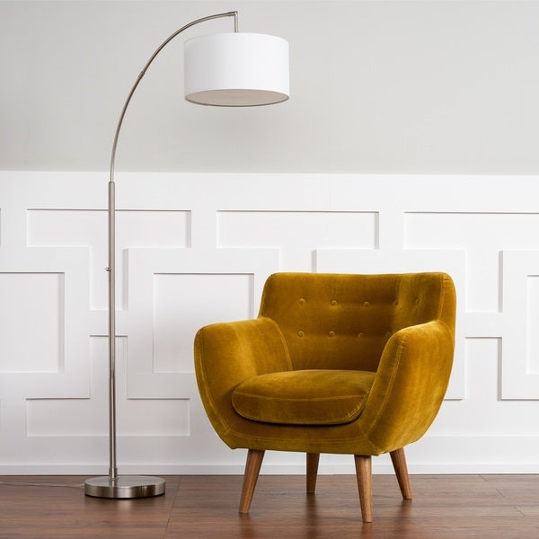Shop Rhodes Mid Century Modern Mustard Yellow Tufted Arm Chair By