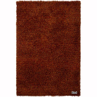 "Mandara Hand-Woven Contemporary Solid Pattern Shag Rug (3'6""x5'6"")"