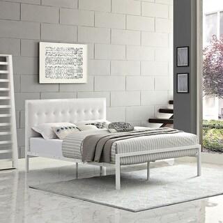 Millie Vinyl Bed in White White