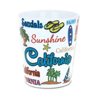 Puzzled California Ceramic Shot Glass|https://ak1.ostkcdn.com/images/products/13620181/P20291152.jpg?impolicy=medium