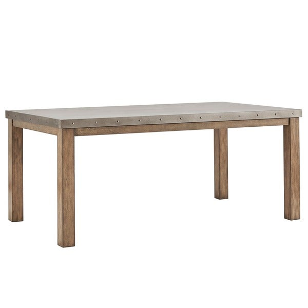 Cassidy Stainless Steel Top Rectangle Dining Table By INSPIRE Q Artisan    Free Shipping Today   Overstock.com   20291190 Part 45