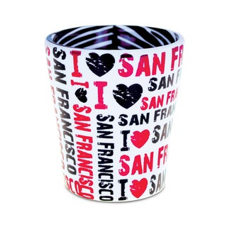 I Love San Francisco Zebra Pink Pattern Shot Glass