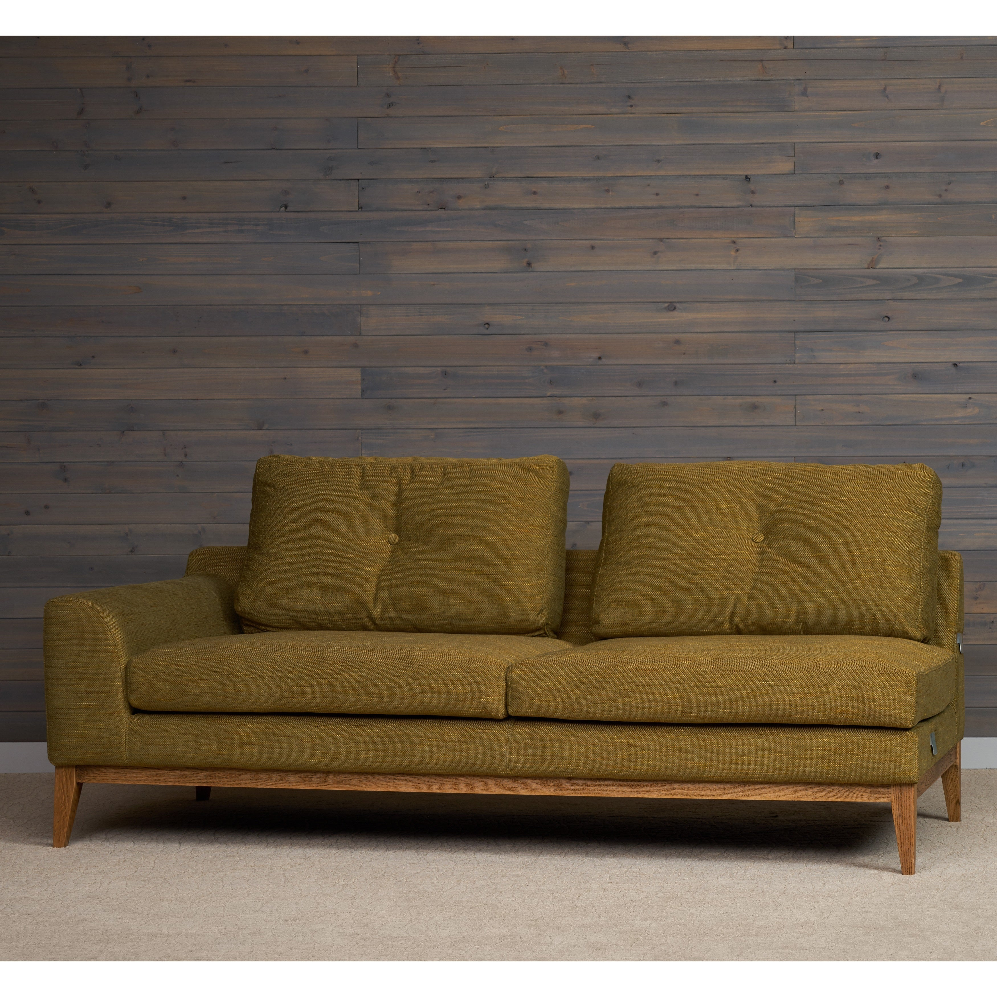 Picture of: Wagner Mid Century Modern Right Arm Sofa Sectional In Olive Green By Rst Brands Overstock 13620234