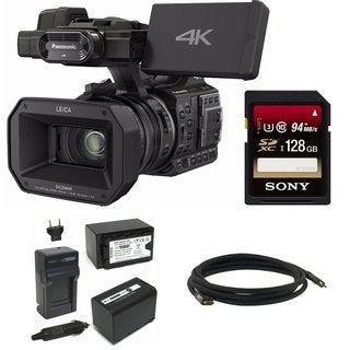 Panasonic HC-X1000 4K-60p/50p Camcorder w/ 128GB SD Card & Accessory Kit Bundle