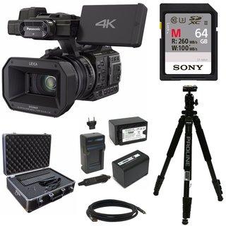 Panasonic HC-X1000 4K-60p/50p Camcorder w/ 64GB SD Card & Hard Case Bundle