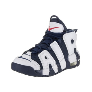 Nike Kids Air More Uptempo (GS) White Leather Basketball Shoe