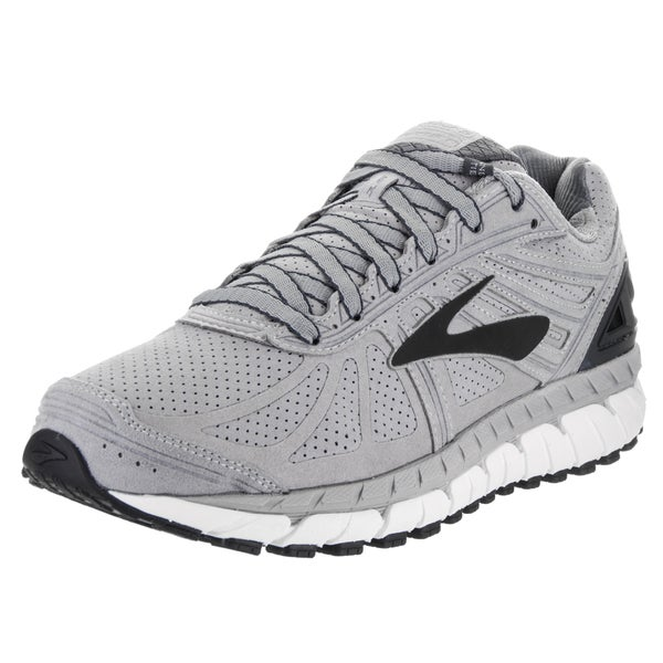 a975c27c7c1 Shop Brooks Men s Beast  16 LE Silver Suede Running Shoes - Free ...