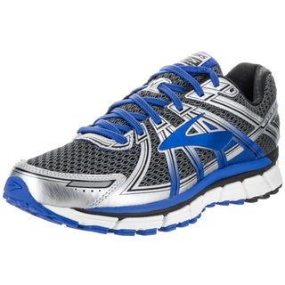 Brooks Men's Adrenaline GTS 17 Blue/Silver Synthetic Leather Running Shoe