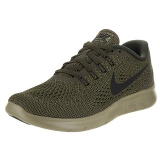 Nike Women's Free Dark Loden/Black/Neutral Olive Flax Leather Running Shoe