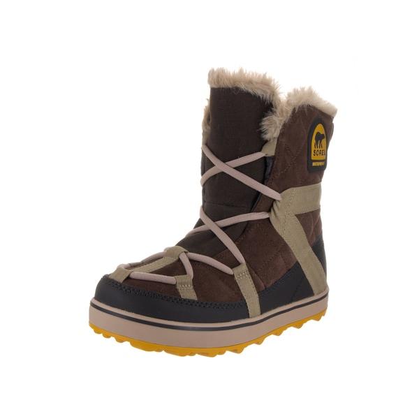 4ba519fa50e Shop Sorel Women s Glacy Explorer Brown Suede Shortie Boot - Free ...