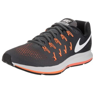Nike Men's 'Air Zoom Pegasus 33' Dark Grey, White, and Black Synthetic Leather Running Shoes