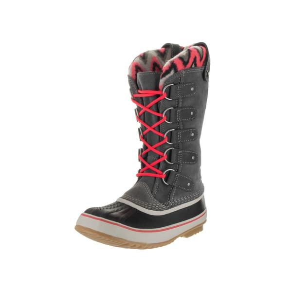 Shop Sorel Women S Joan Of Arctic Knit Ii Grey Suede Boots
