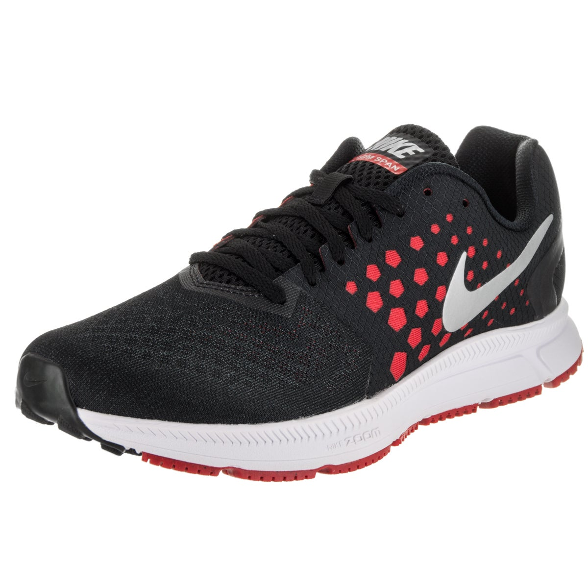 Nike Men's Zoom Span Black Synthetic Leather Running Shoe...