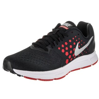 Nike Men's Zoom Span Black Synthetic Leather Running Shoes