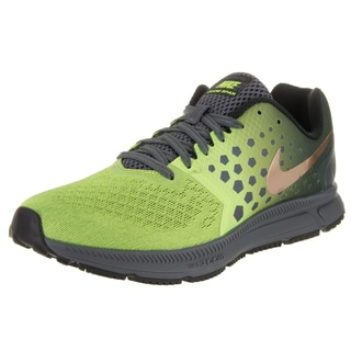 Nike Men's Zoom Span Shield Green Synthetic Leather Running Shoes