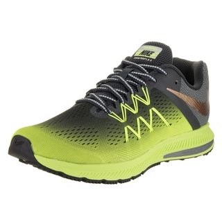 Nike Men's Zoom Winflo 3 Shield Green Faux Leather Running Shoe