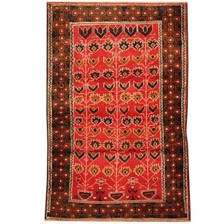 Herat Oriental Afghan Hand-knotted Tribal Balouchi Wool Rug (3' x 4'6)